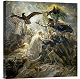 Global Gallery GCS-281972-22-142 ''Anne Girodet De Roucy-Trioson The Shadows Of The French Warriors Led By The Victory'' Gallery Wrap Giclee on Canvas Wall Art Print