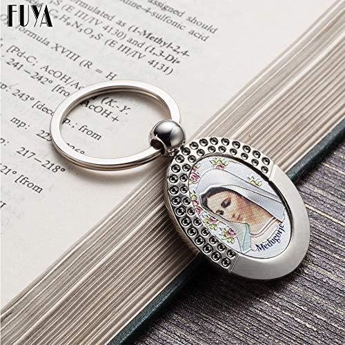Amazon.com : Rarido Virgin Mary Keychain Trinket Rose Key ...