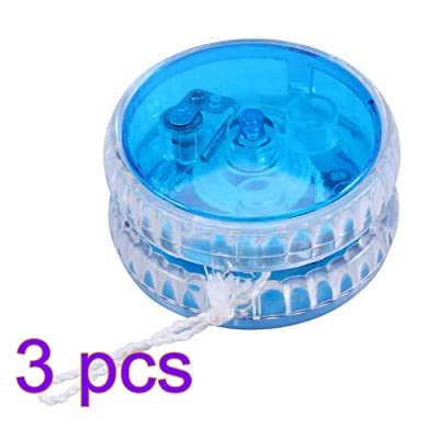 STOBOK 3pcs LED Light Up Responsive Ball Bearing Yoyo with String Yo-Yo Ball Birthday Party Favors for Kids: Toys & Games