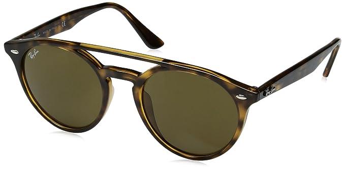 98138b58d486b Amazon.com  Ray-Ban Injected Unisex Round Sunglasses, Shiny Havana ...