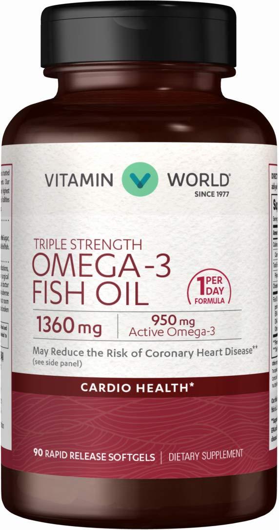 Amazon.com: Vitamina mundo triple-strength-omega-3-fish-oil ...
