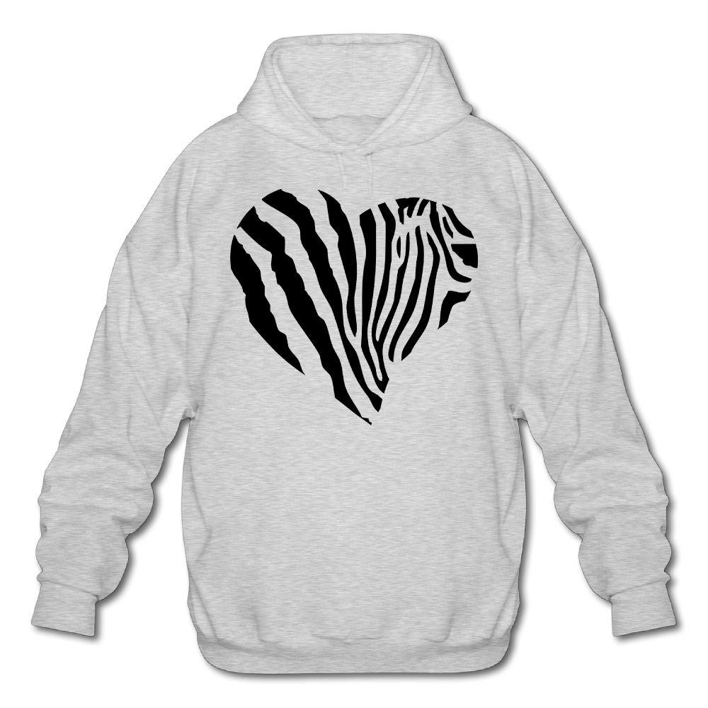 Artphoto Mens Geek Zebra Heart Hoodies Sweatshirt