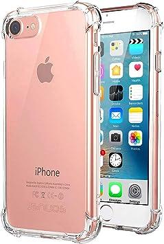 Jenuos Funda iPhone SE 2020, Funda iPhone 7 / iPhone 8, Transparente Suave Silicona Protector TPU Anti-Arañazos Carcasa Cristal Caso Cover para iPhone 7/8 / SE 2020: Amazon.es: Electrónica