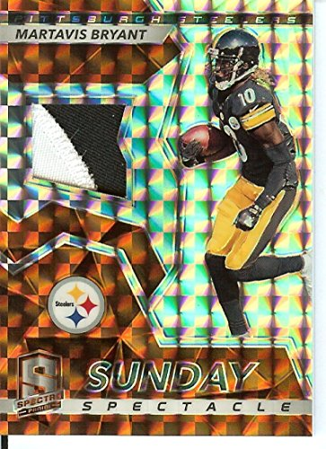 Football NFL 2017 Spectra Sunday Spectacle Neon Orange #38 Martavis Bryant MEM 3/5 Steelers by Spectra