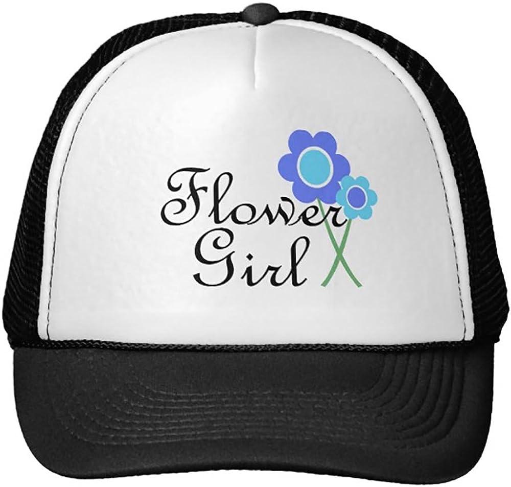 Blue Daisy Flower Girl Trucker Hat
