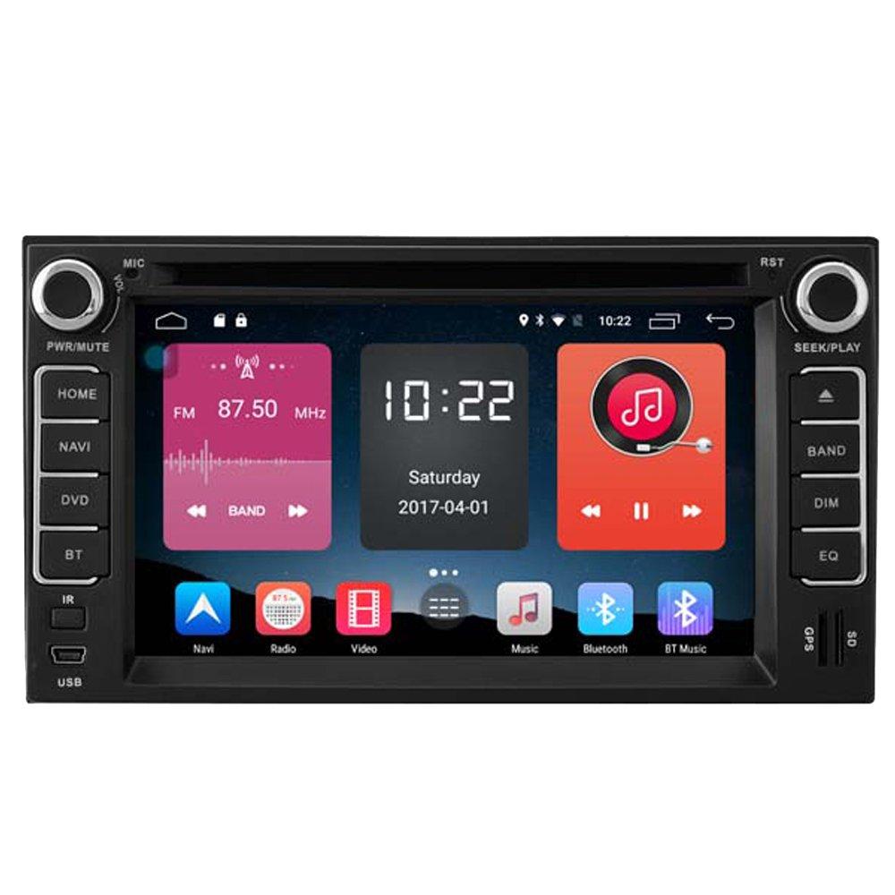 Autosion In Dash Android 6.0 Car DVD Player Sat Nav Radio Head Unit GPS Navigation Stereo for Kia Cerato Carens RIO Sorento Morning Grand Carnival Support Bluetooth SD USB Radio OBD WIFI DVR 1080P