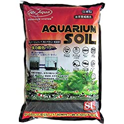 Mr. Aqua Aquarium Soil for Freshwater Plants Shrimp Fish Small Granule 8 Liter Bag