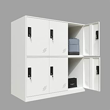 Amazon.com : Living Room Organizers And Storage Small Metal Storage Cabinet With Lock For Toy And Cloth And Self Belonging Storage (Rosy, 6D) : Office Products