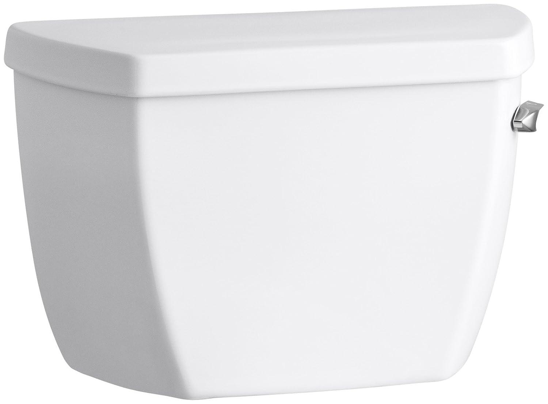 White Kohler K-4484-RA-0 Highline Classic 1.0 gpf Toilet Tank with Right-Hand Trip Lever
