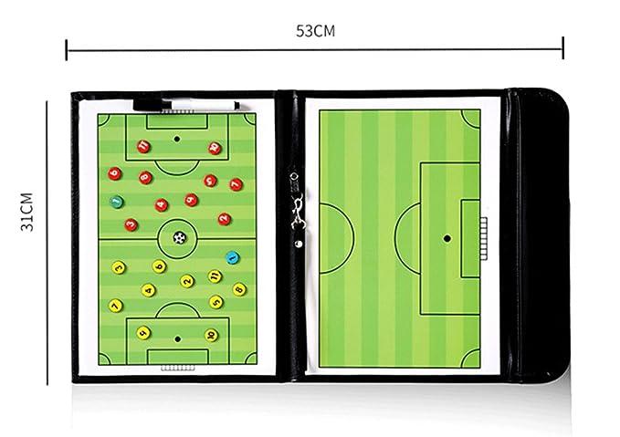 RoseFlower Carpeta Táctica de Futbol, Carpeta Pizarra Táctica de Entrenamiento Entrenador Magnéticas de Fútbol con Imanes, Lapiceros y Borrador ...