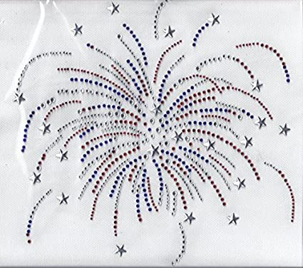 Usa Flag Bling Sequins No rhinestones transfer Iron On Hot fix applique