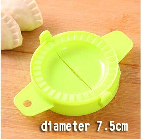 FISH4 Creativo más Popular Hacer Gadgets albóndigas Utensilios Modelo Herramienta para Hornear Pellizcar a Mano albóndigas artefacto Círculo Punta Redonda, diámetro 7.5 cm, 1 Piezas: Amazon.es