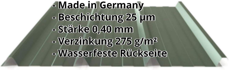 Farbe Kupferbraun St/ärke 0,40 mm Material Stahl Dachblech Profilblech Profil PS45//1000TR Trapezblech Beschichtung 25 /µm