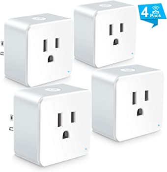 4-Pack Wsiiroon WiFi Mini Smart Plug