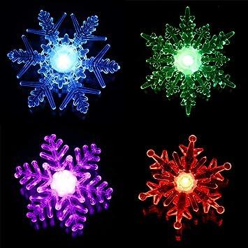 Weihnachtsdeko Fensterbeleuchtung.Designfun 1 X Led Schneeflocke Weihnachtsdeko Fensterbeleuchtung ø 10 Cm Farbwechselnd