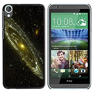 El círculo de la Iluminación - Metal de aluminio y de plástico duro Caja del teléfono - Negro - HTC Desire 820