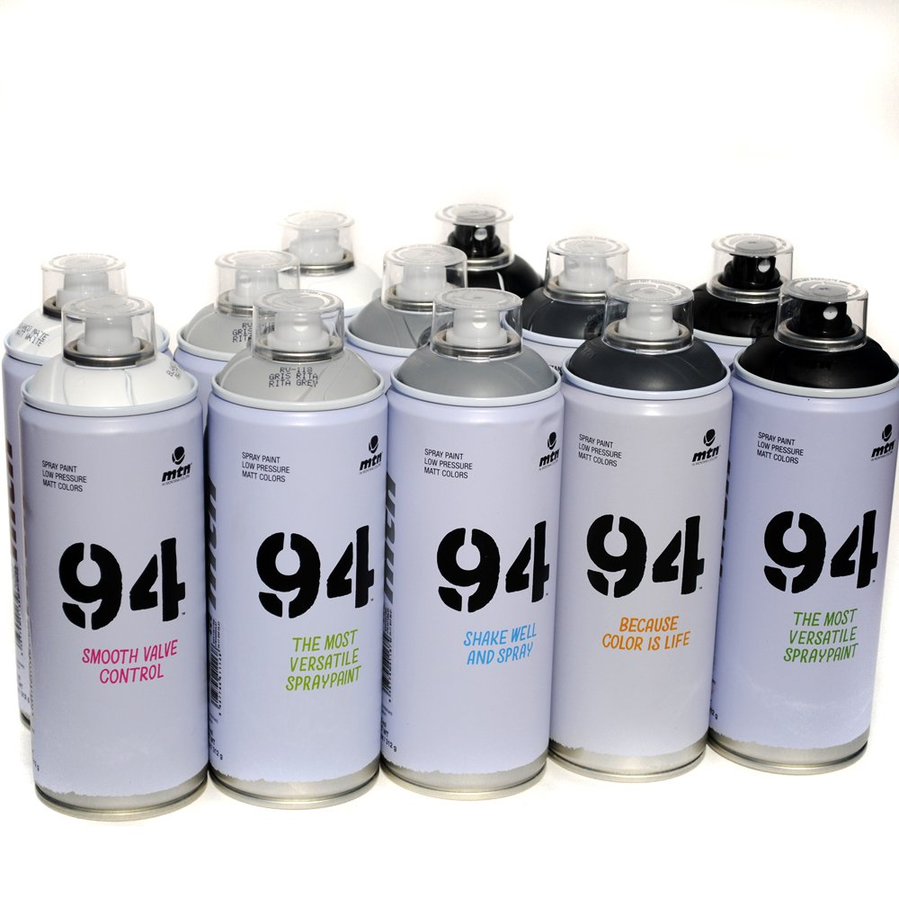 Montana MTN 94 Spray Paint 400ml Popular Colors Set of 12 Graffiti Street  Art Mural Aerosol Paint Main Set 1