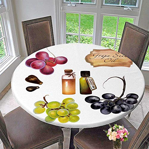 PINAFORE HOME Modern Table Cloth of Grape Seed Oil Painted red Grape Black Grape Green Grape with Indoor or Outdoor Parties 59