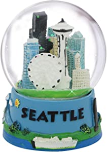 Seattle Snow Globe Souvenir with Space Needle and Skyline, 3.5 Inches