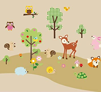 Forest Animals Baby/Nursery Wall Sticker Decals for Boys and Girls & Amazon.com: Forest Animals Baby/Nursery Wall Sticker Decals for Boys ...