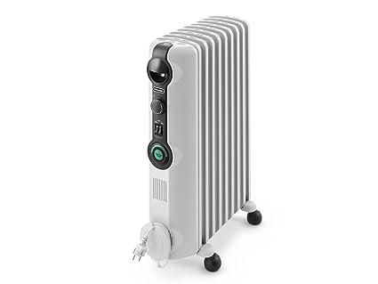 Delonghi RADIA S Radiador con Comfort-Temp, 9 Elementos, Blanco y