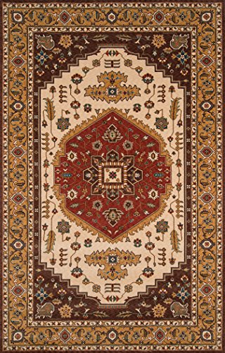 Momeni Rugs PERGAPG-03COO5080 Persian Garden Collection, 100% New Zealand Wool Traditional Area Rug, 5' x 8', Cocoa