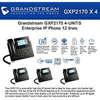 Grandstream GXP2170 (BUNDLE of 4) 12 Line IP Phone, Color Display-VoIP