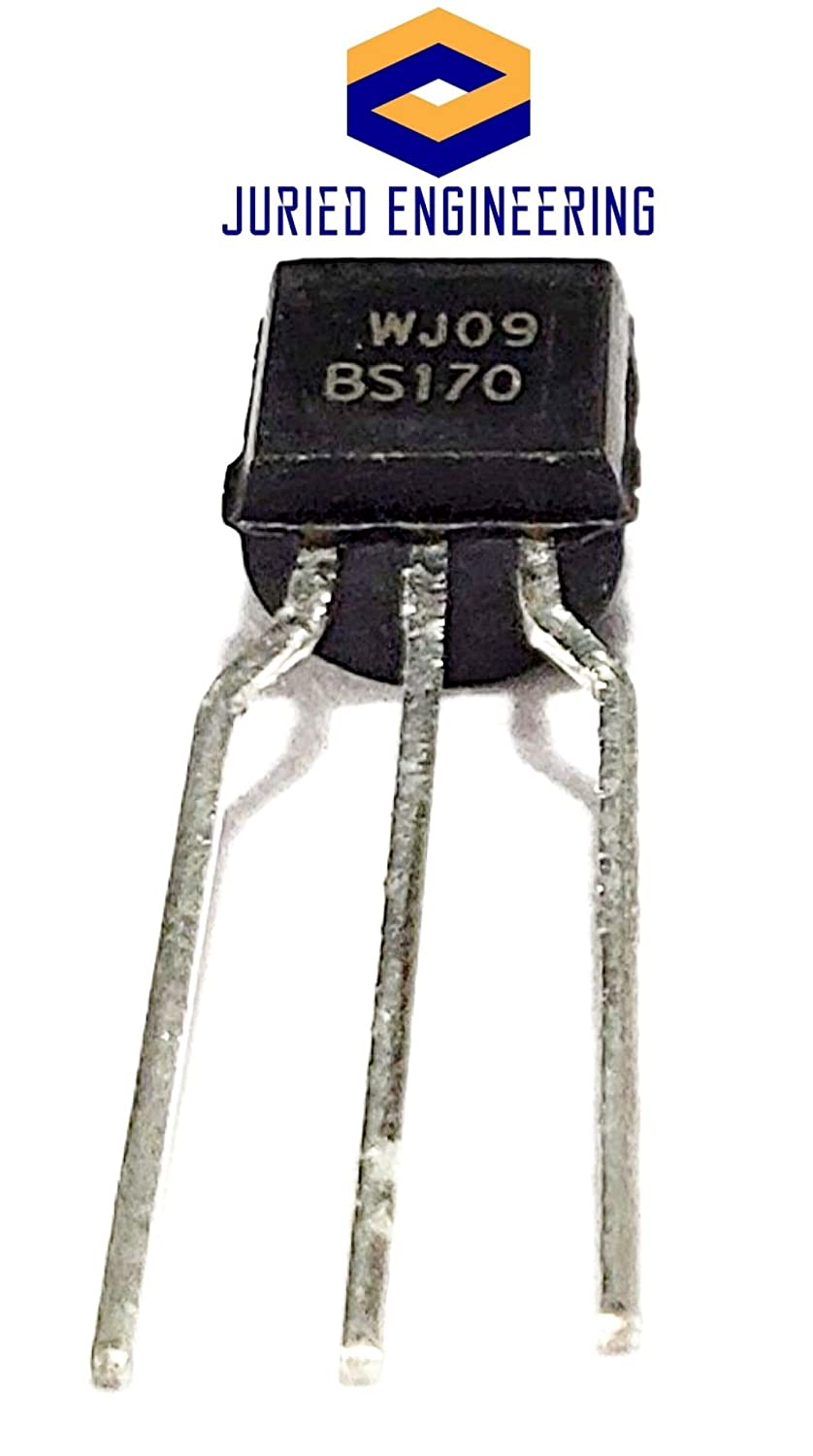 Juried Engineering ON Semiconductor BS170 Small Signal MOSFET 500 mA 60 Volts N-Channel Enhancement Mode Field Effect Transistor to/−92 Pack of 5 to/−226