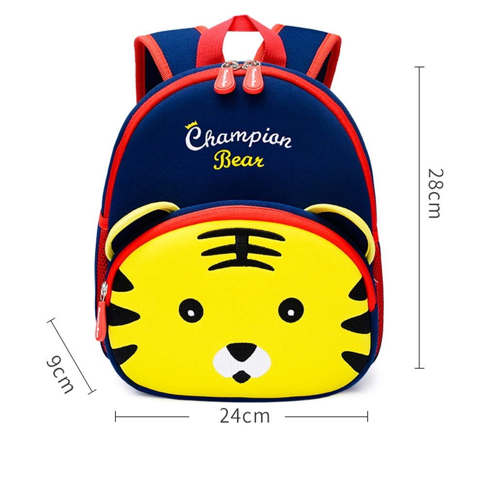 QWEER Anti-Lost Shoulder Bag Diving Material Anti-Lost Bag Kindergarten Boys and Girls 1-3-6 Years Old Cute Little School Bag Children Backpack Soft Breathable Large Capacity Design by QWEER (Image #7)