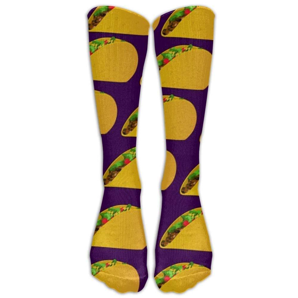 Yummy Taco Unisex Funny Pattern Crew Socks Compression Socks For Boys And Girls