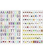 LitEnergy 180 letreros de Cine con 90 Cartas 90 Emojis Caja de Cintas A4