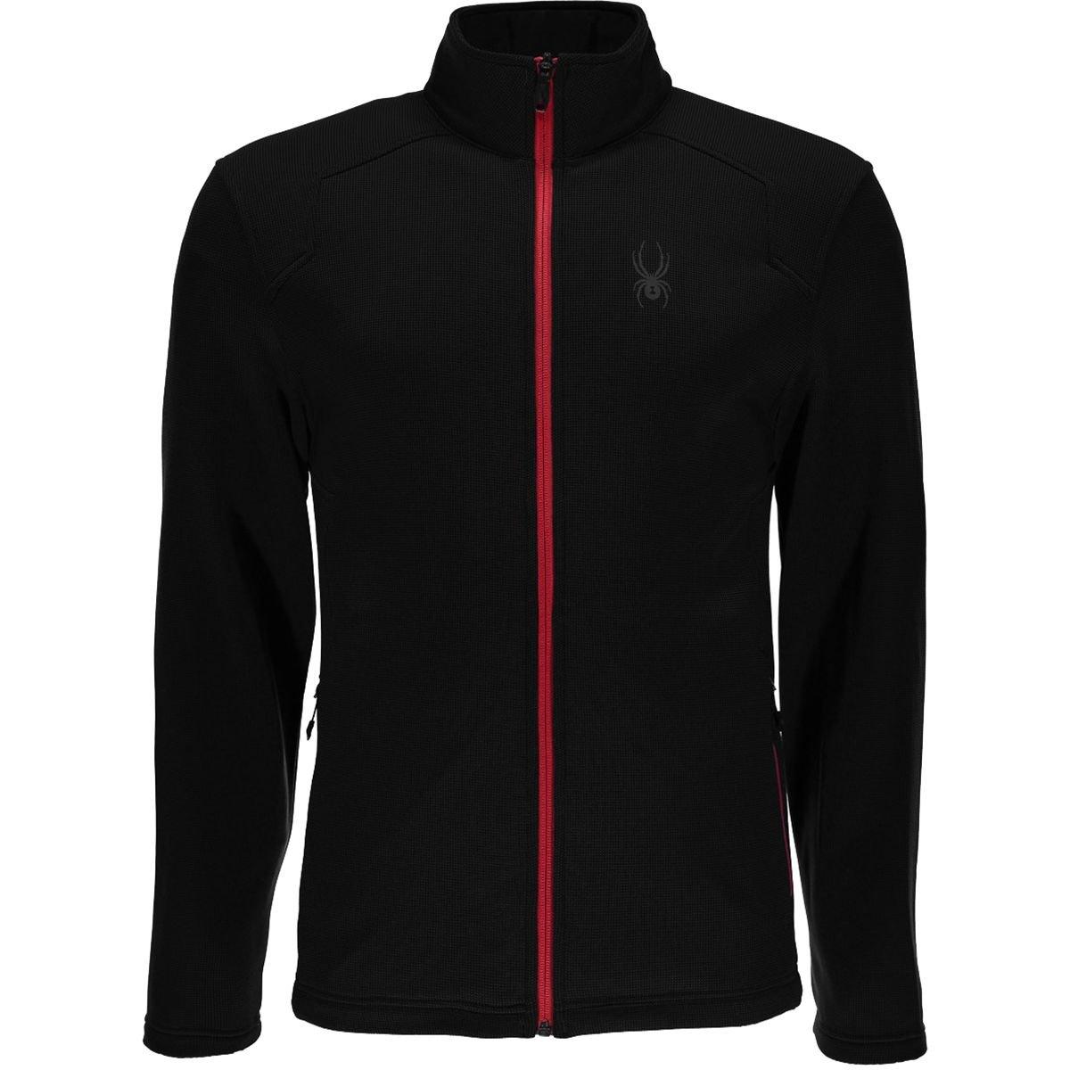 Spyder Chambers Full Zip Jacket – Men 's B077J2GQF8 Large|ブラック ブラック Large