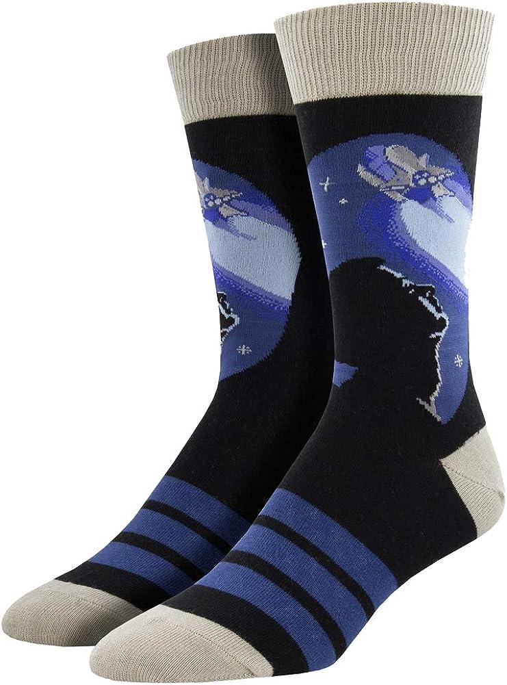 Mens Crew Socks Nasa Rocket Launch