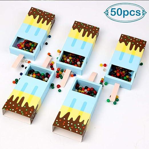 aerwo 50pcs Ice Cream Candy cajas bebé ducha favorece cajas ...