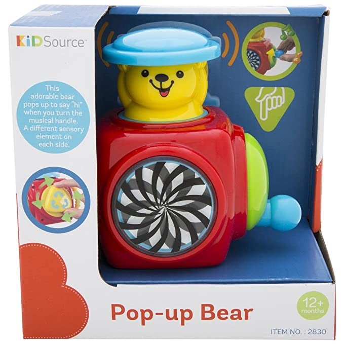 b5265ab2f Amazon.com  KidSource Pop-Up Bear - Musical Jack-in-the-Box Toy ...
