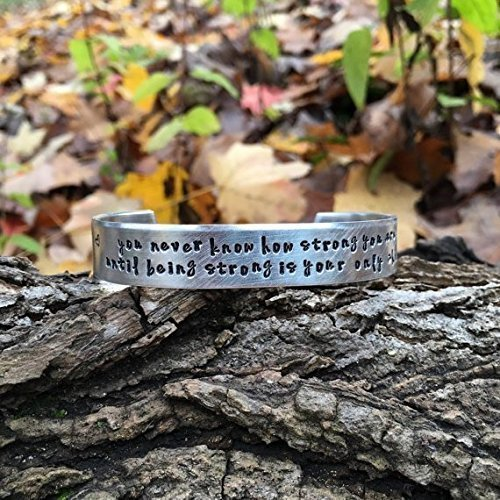 you never know how strong you are bob marley quote bracelet uplifting gift idea - Best Christmas Gifts Under 25