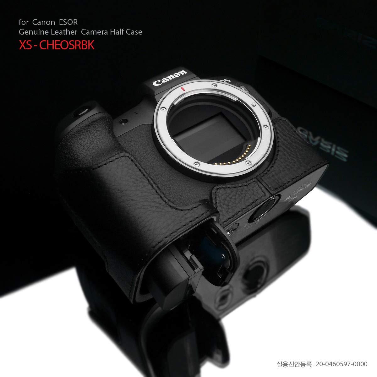 Gariz XS-CHEOSRBK 本革ハーフケース Cano EOS R用 ブラック   B07KKGM3NN