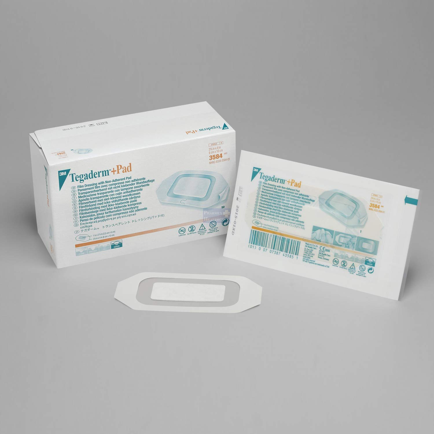 3M Tegaderm Transparent Dressing with Absorbant Pad (2 3/8