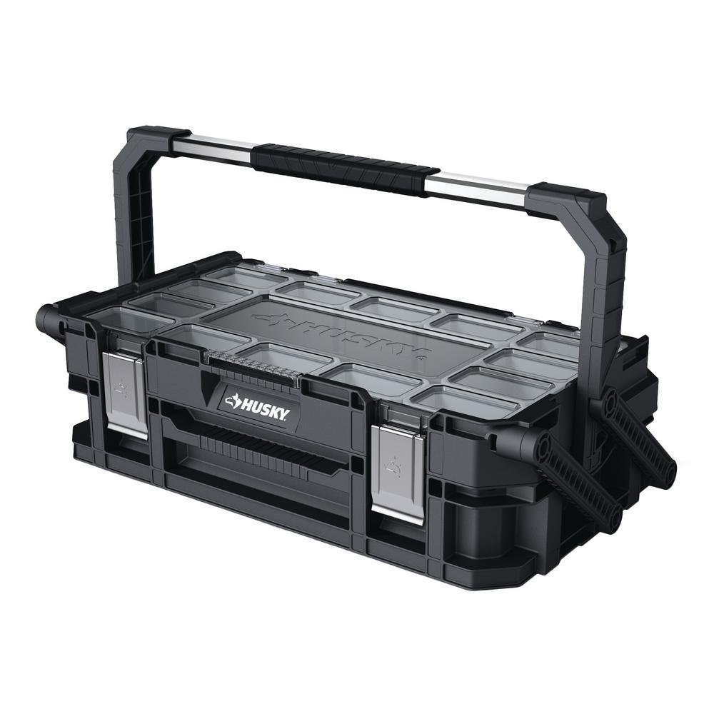Husky 22 in. 22-Compartment Connect Cantilever Organizer for Small Parts Organizer