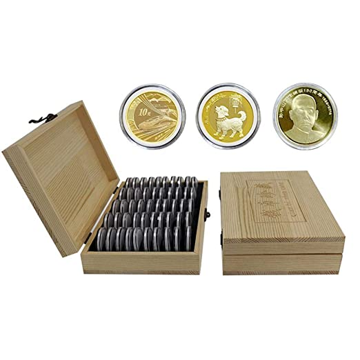 Container Collection Case Coin Storage Box Commemorative Display Vintage