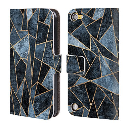 Official Elisabeth Fredriksson Soft Dark Blue Shattered Collection Leather Book Wallet Case Cover For iPod Touch 5th Gen / 6th Gen
