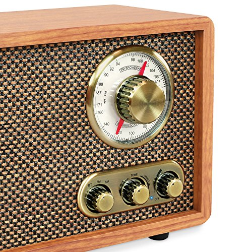 Victrola Retro Wood Bluetooth FM/AM Radio with Rotary Dial, Walnut by Victrola (Image #2)