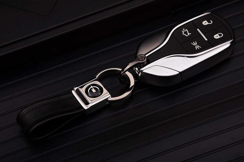 cinturino in pelle Nappa Anello portachiavi Clip Anello per Toyota Cadtealir Linguetta in acciaio inossidabile Chiusura a bottone in metallo con chip dorato 18 carati