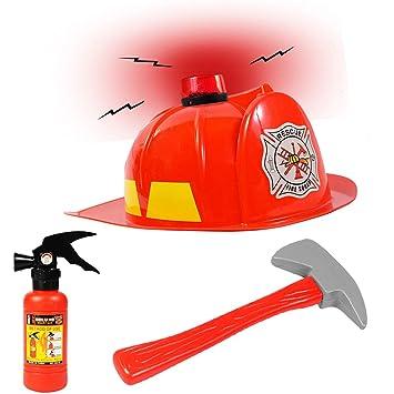 Amazon.com: Bombero Sombrero w/bombero Accesorios – Disfraz ...