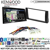 Volunteer Audio Kenwood DNX574S Double Din Radio Install Kit with GPS Navigation Apple CarPlay Android Auto Fits 2002-2006 Non Amplified Toyota Camry