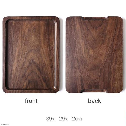 Paleta de madera del hogar del té japonesa bandeja rectangular pan ...