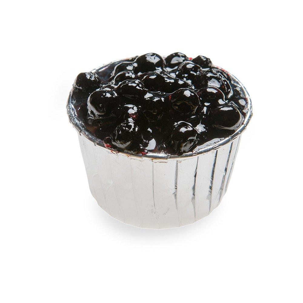 Pleated Baking Cups - 2.1 oz Baking Cups - Muffins, Cupcakes, Mini Snacks - Silver Metallic - Disposable - 200ct Box - Restaurantware by Restaurantware