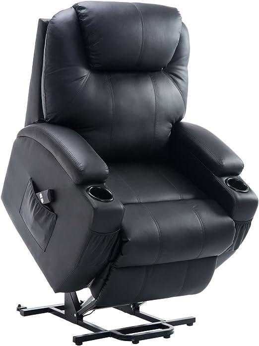 Homcom Elektrischer Fernsehsessel Aufstehsessel Relaxsessel Sessel Mit Aufstehhilfe Schwarz Amazon De Kuche Haushalt