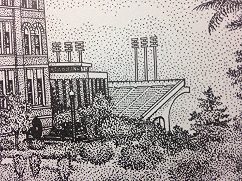 Auburn Samford Hall pen and ink 11''x14'' print by Campus Scenes (Image #5)