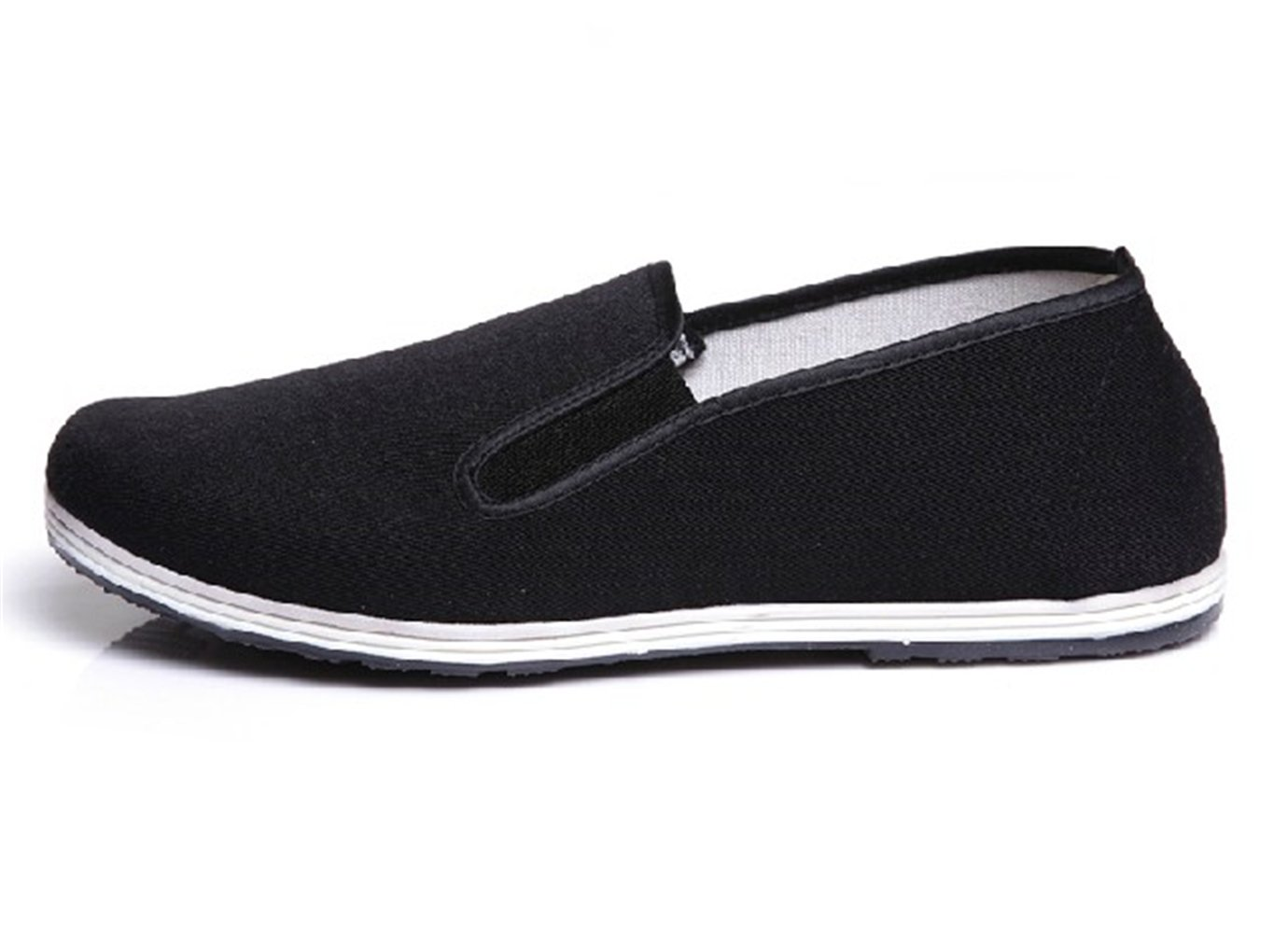 Handmade Winter Chinese Traditional Cloth ShoesExtra Thick Cotton Shoes.(Black)